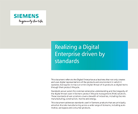Digital Enterprise Driven by Standards