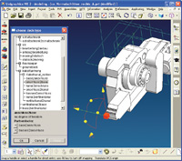 Technical and geometric data from the construction kit are imported into the CAD system.