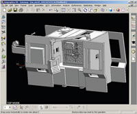In the CAD system, the configuration is built up as an assembly containing detailed solid models of up-to-date components.