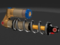 March 2013 Design Contest Winner - Bicycle Shock Absorber using NX software