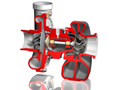 October 2013 Design Contest Winner - Turbocharger assembly using Solid Edge software