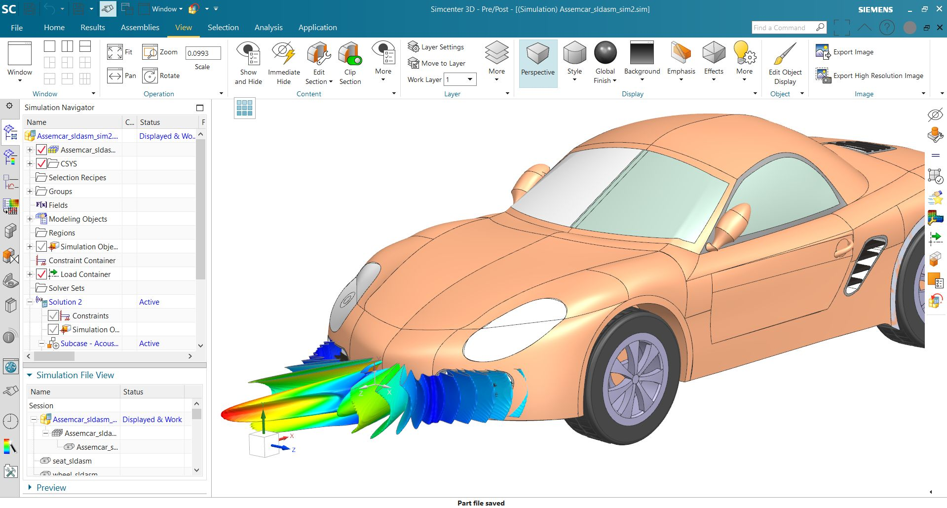 Automotive radar antenna simulation