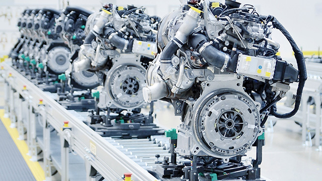 End-of-line testing – automotive production line