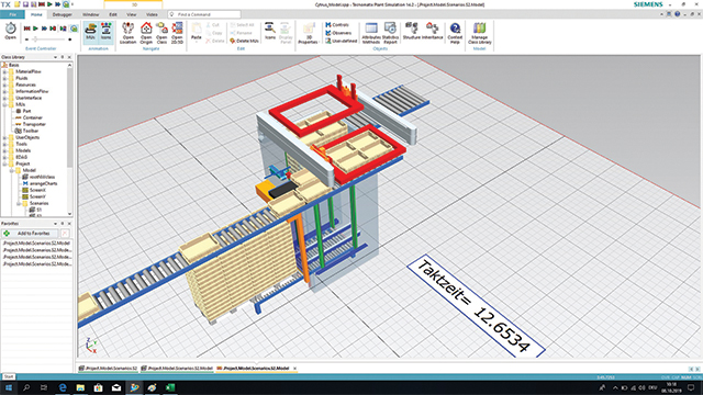 Solid Edge software to design custom conveyor system