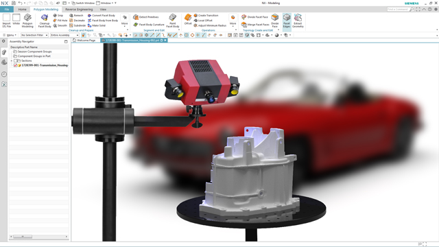 Experience NX Scan to Part, a powerful 3D work station, free for 30 days.