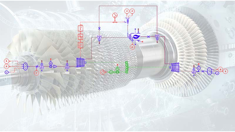 1D simulation of gas turbine secondary air systems