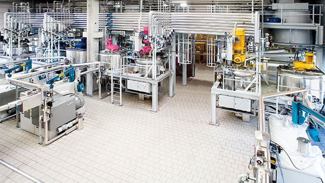 A Bühler mixing production line.