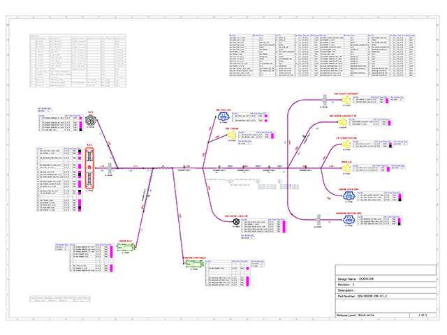 VeSys harness and formboard design with automated part selector and manufacturing report generation