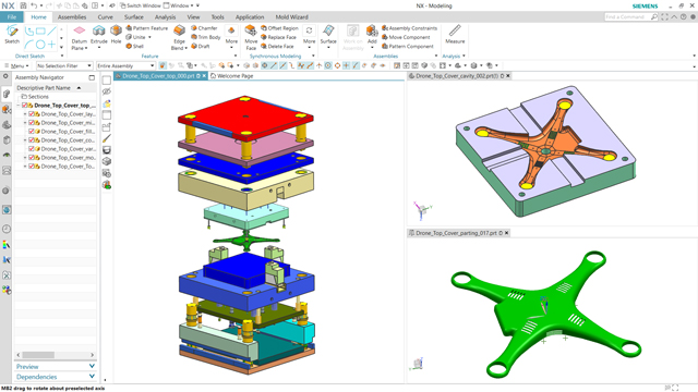 Experience NX Mold Design software, free for 30 days