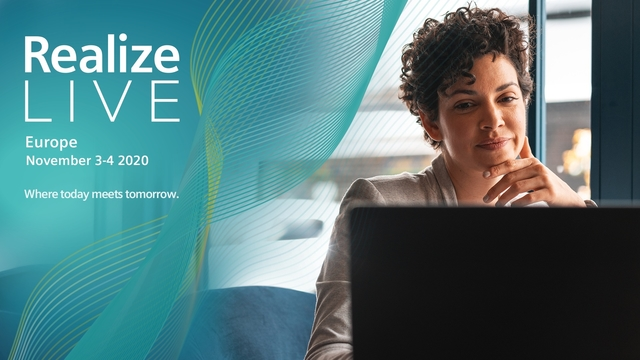 Realize LIVE Europe 2020 -  Claim your complimentary pass to join Realize LIVE virtually