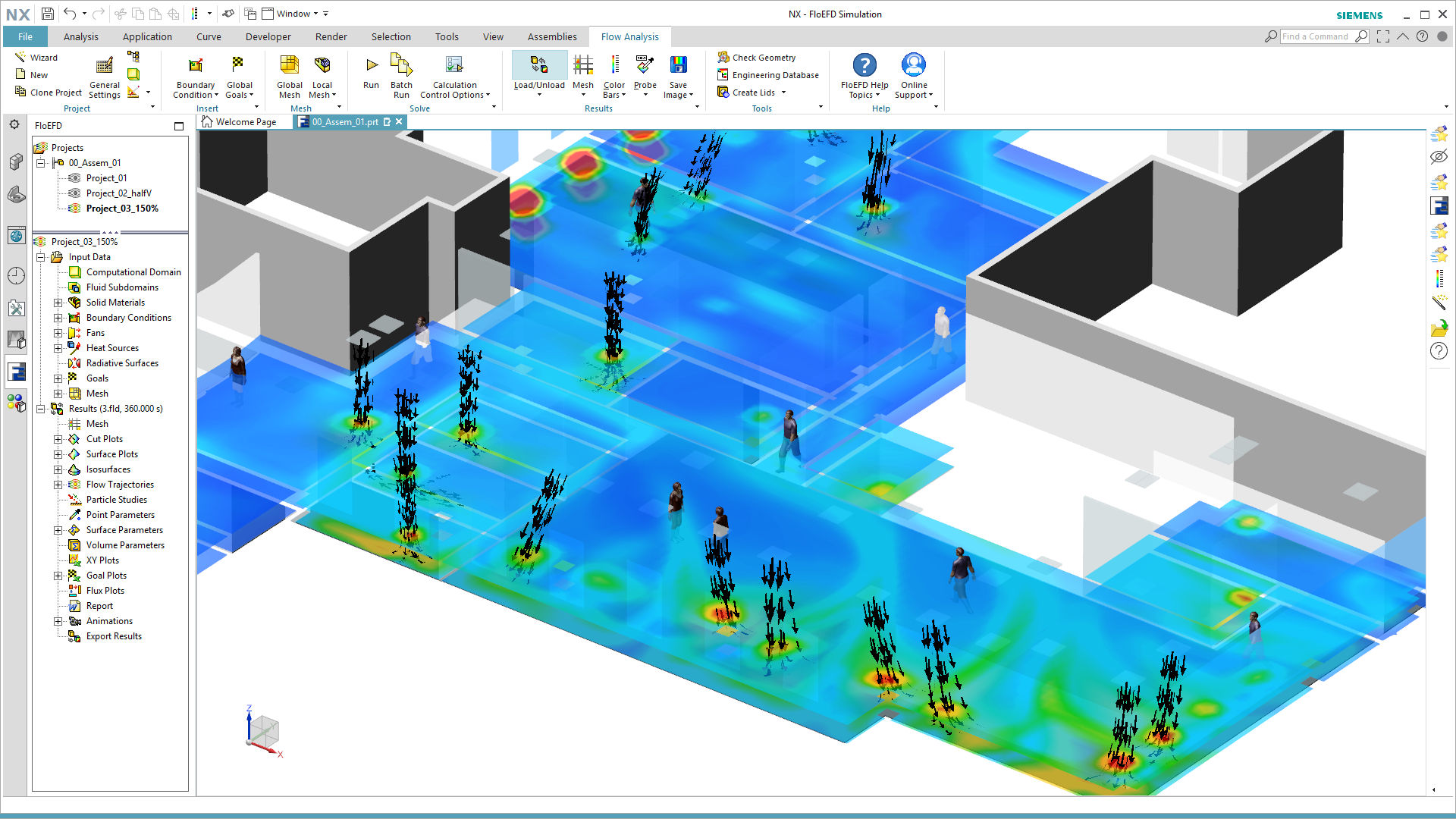 HVAC CFD Software embedded in NX-CAD environment