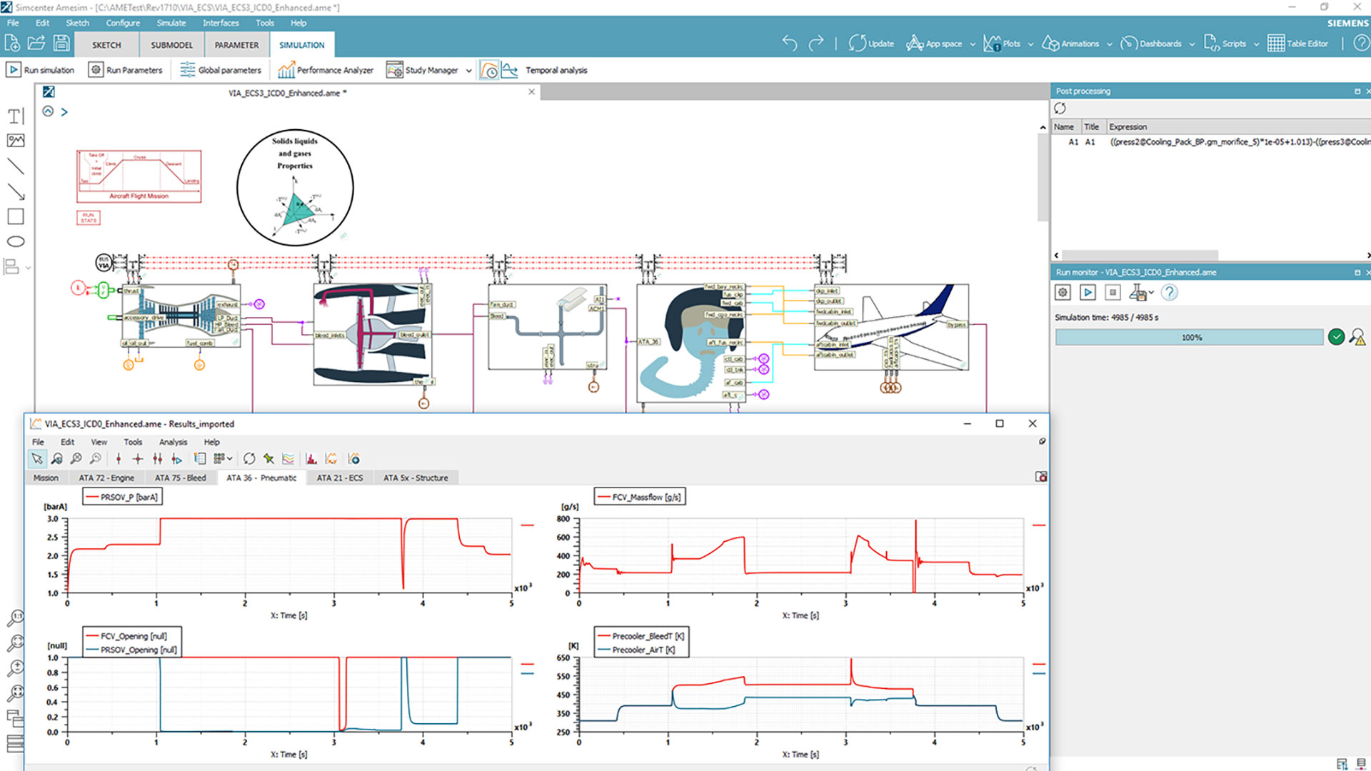 Simcenter Amesim for the environmental control systems optimization