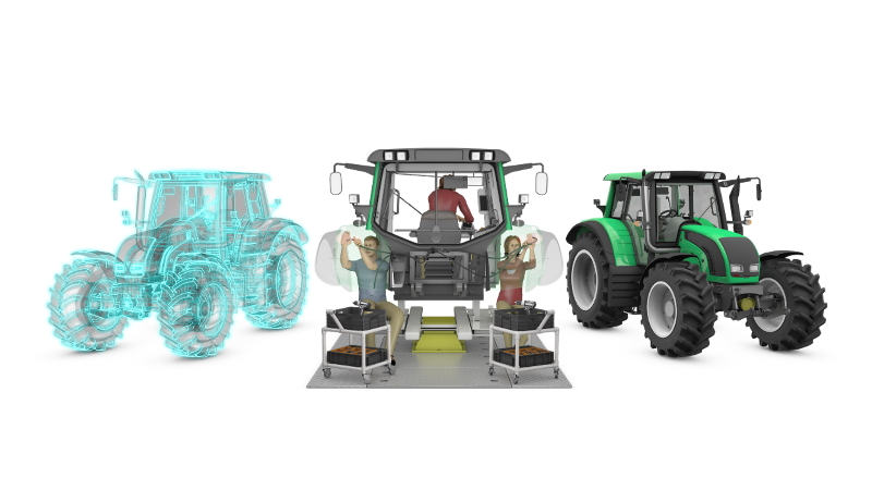 Improve your process planning with the Digital Twin - heavy equipment tractor manufacturing