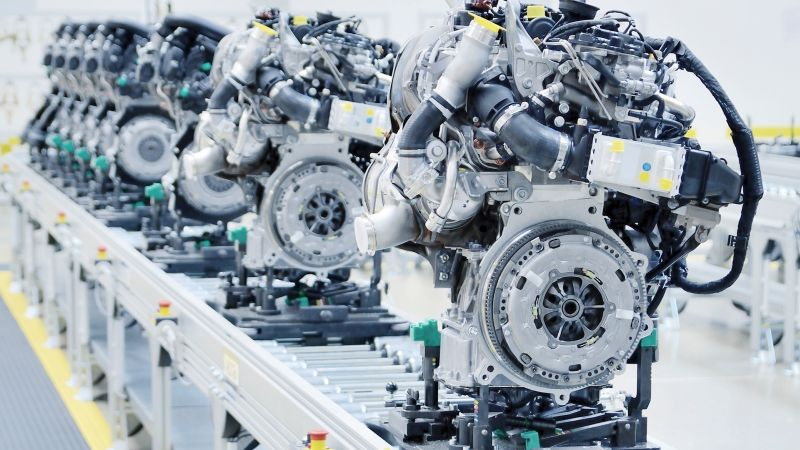 Series of engines at the production line - aiming to process there the noise and vibration signal