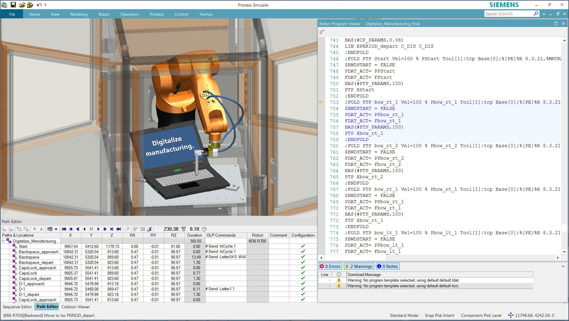 Robotics and Automation Simulation