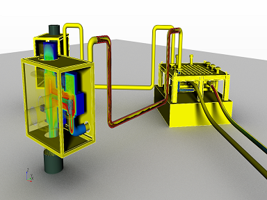 Subsea tree flow and thermal simulation for performance modelling