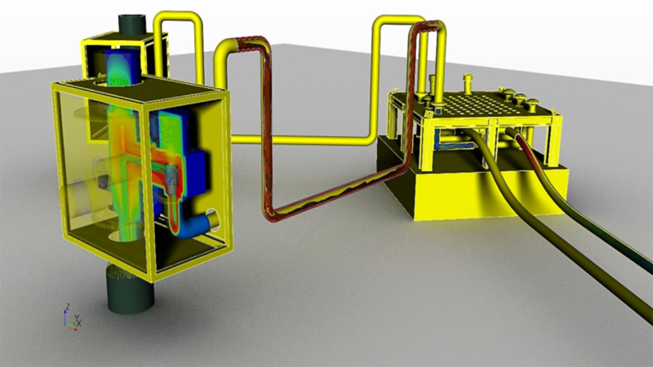 An oil and gas digital twin for subsea design equipment