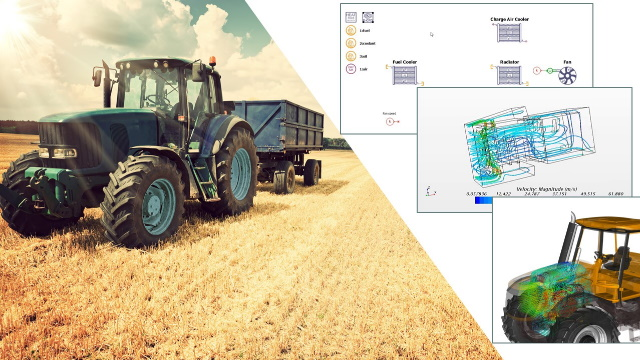 Reach an optimal heavy equipment thermal management using 1D/3D co-simulation