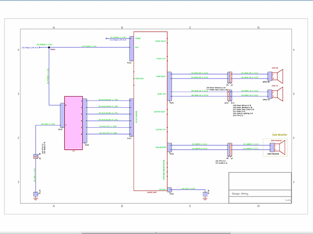 VeSys electrical design & verification for the creation of wiring diagrams and service documentation.