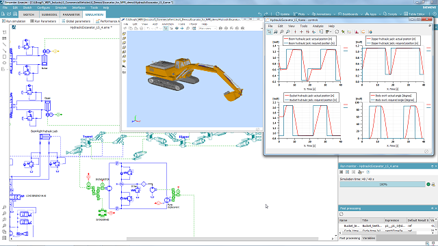 Heavy Equipment Actuation System Simulation