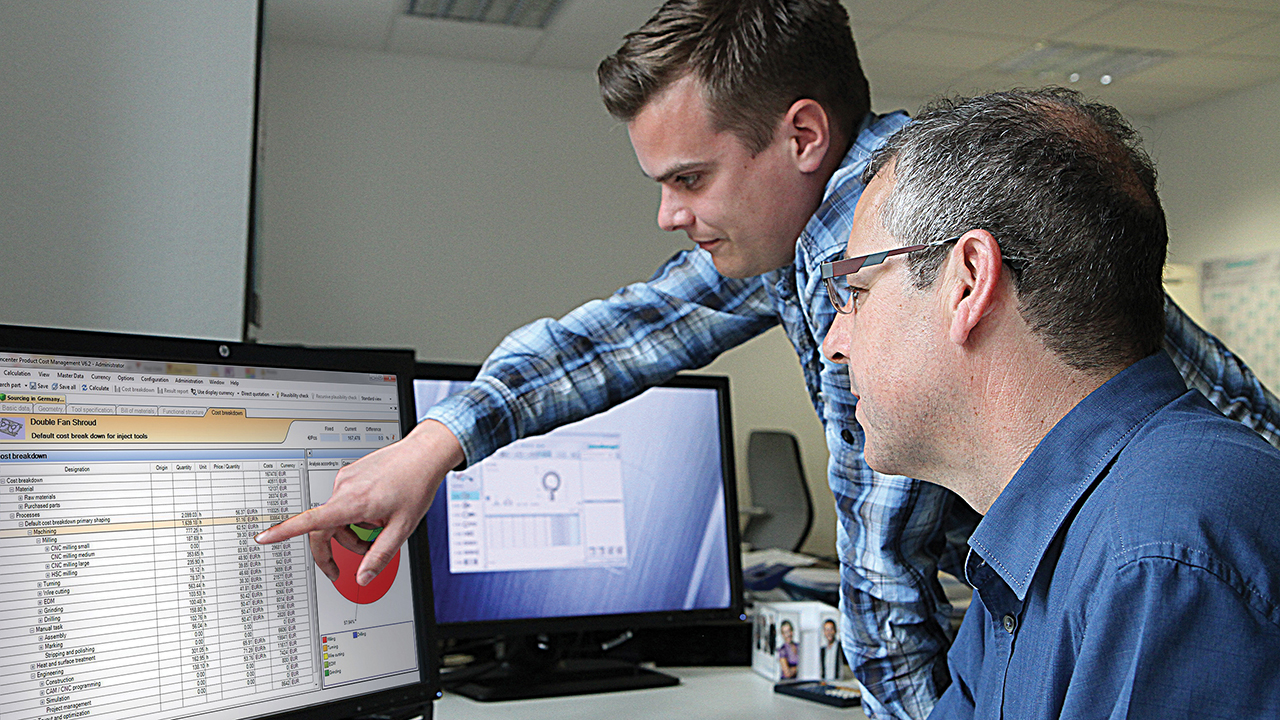 With Teamcenter, plastic components manufacturer generates cost calculations 50 percent faster