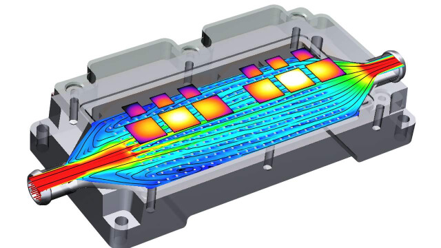 Thermal simulation of automotive power electronics components