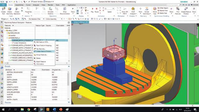In her internship, a Thomas More student studied the software functionality and the specific machine language NX uses for feature-based machining with defini tions of the designed space and PMIs.