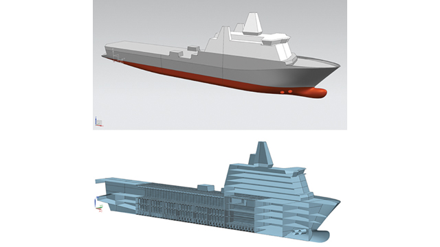 Use connected simulation tools as the driver for the ship design process.
