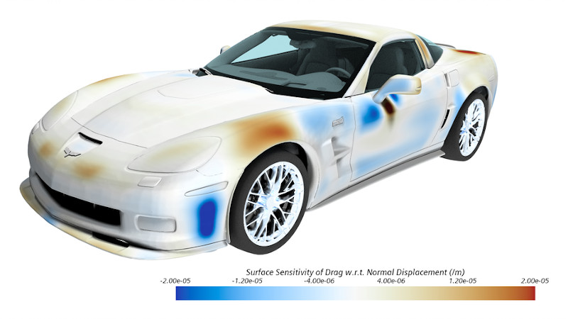 Vehicle aerodynamics drag simulation example image