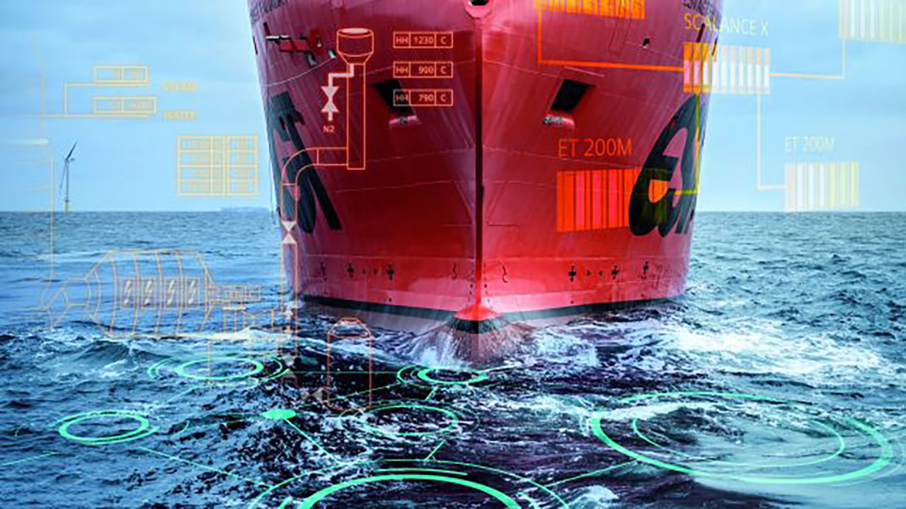 Large vessels have high frictional drag in the water