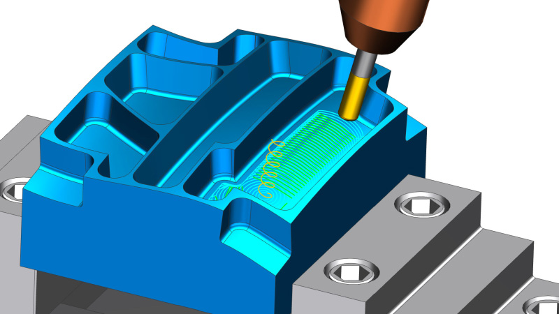 5-axis high-speed roughing using NX CAM