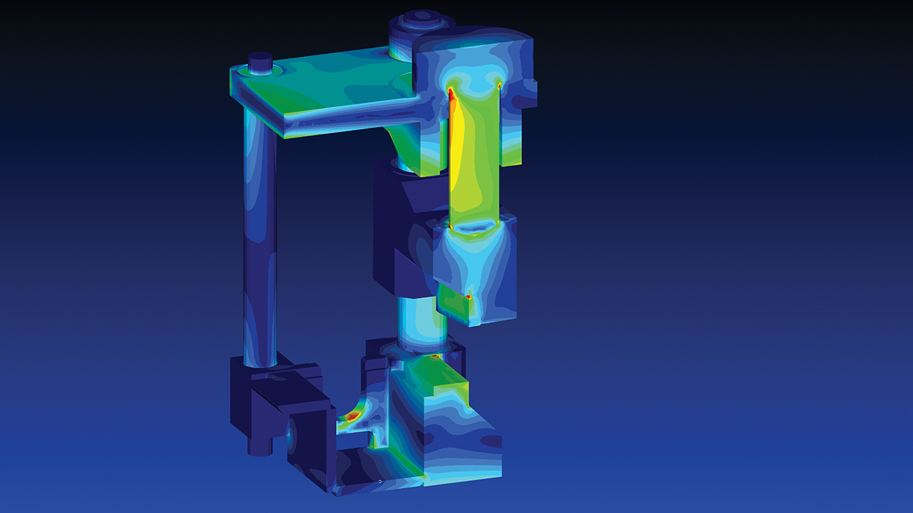 Aluminum foundry and extrusion plant maker optimizes projects with FEA
