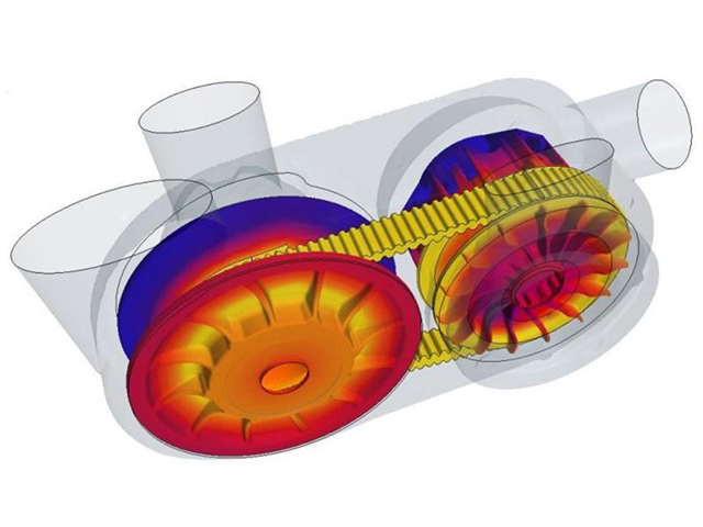 CFD thermal analysis of a CVT