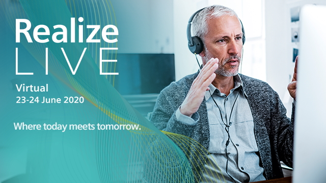 Realize LIVE 2020 -  Claim your complimentary pass to join Realize LIVE virtually