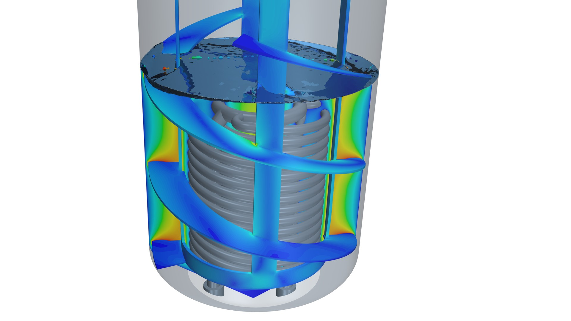 CFD simulation of a chemical reactor