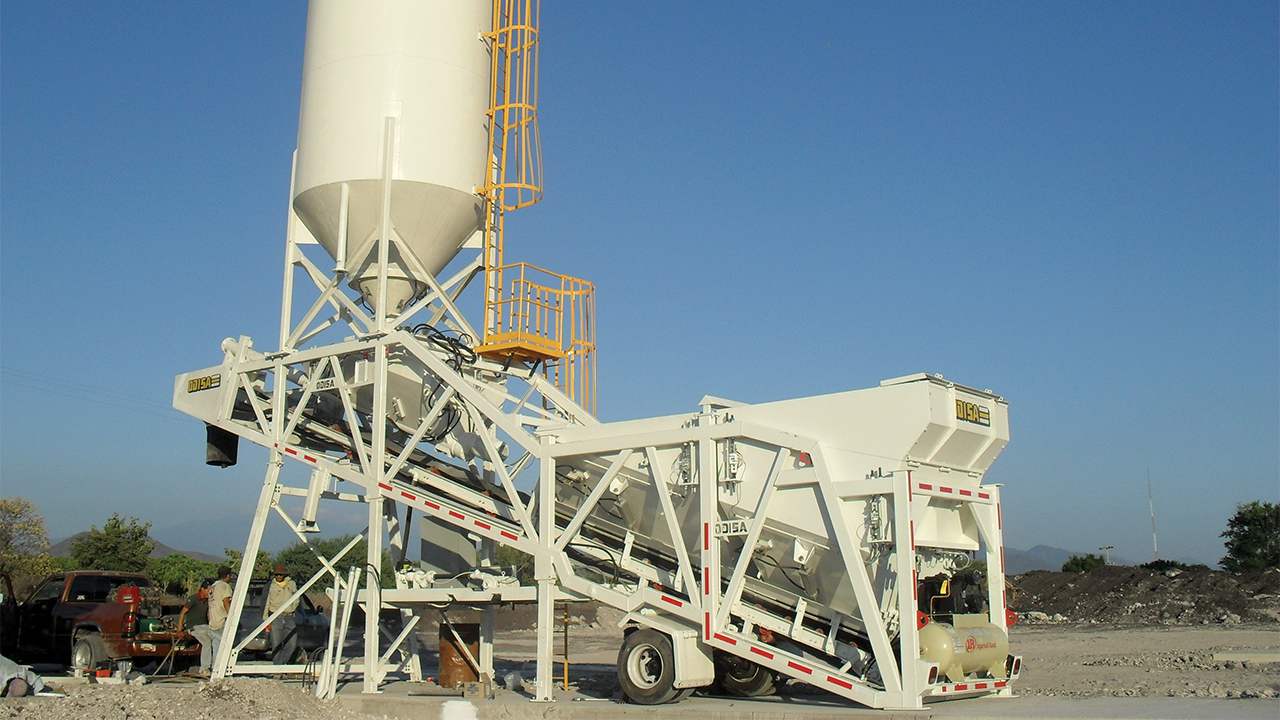Designing entire concrete production plants for shipment inside a standard container, company expands into new markets