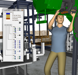 Example of Jack software simulating a plant worker