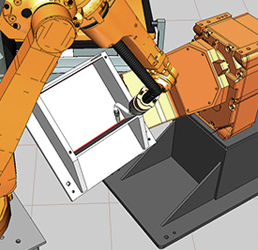 RobotExpert simulates complete manufacturing cells and systems.