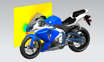 CFD analysis of a motorcycle