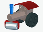 Road Roller Tutorial using Solid Edge